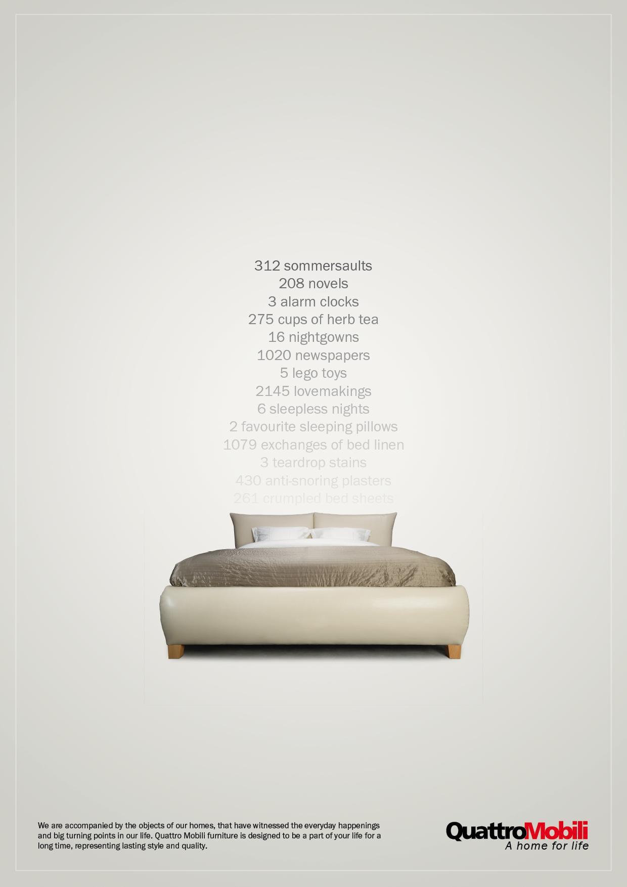 Quattro Mobili Print Ad -  Bed