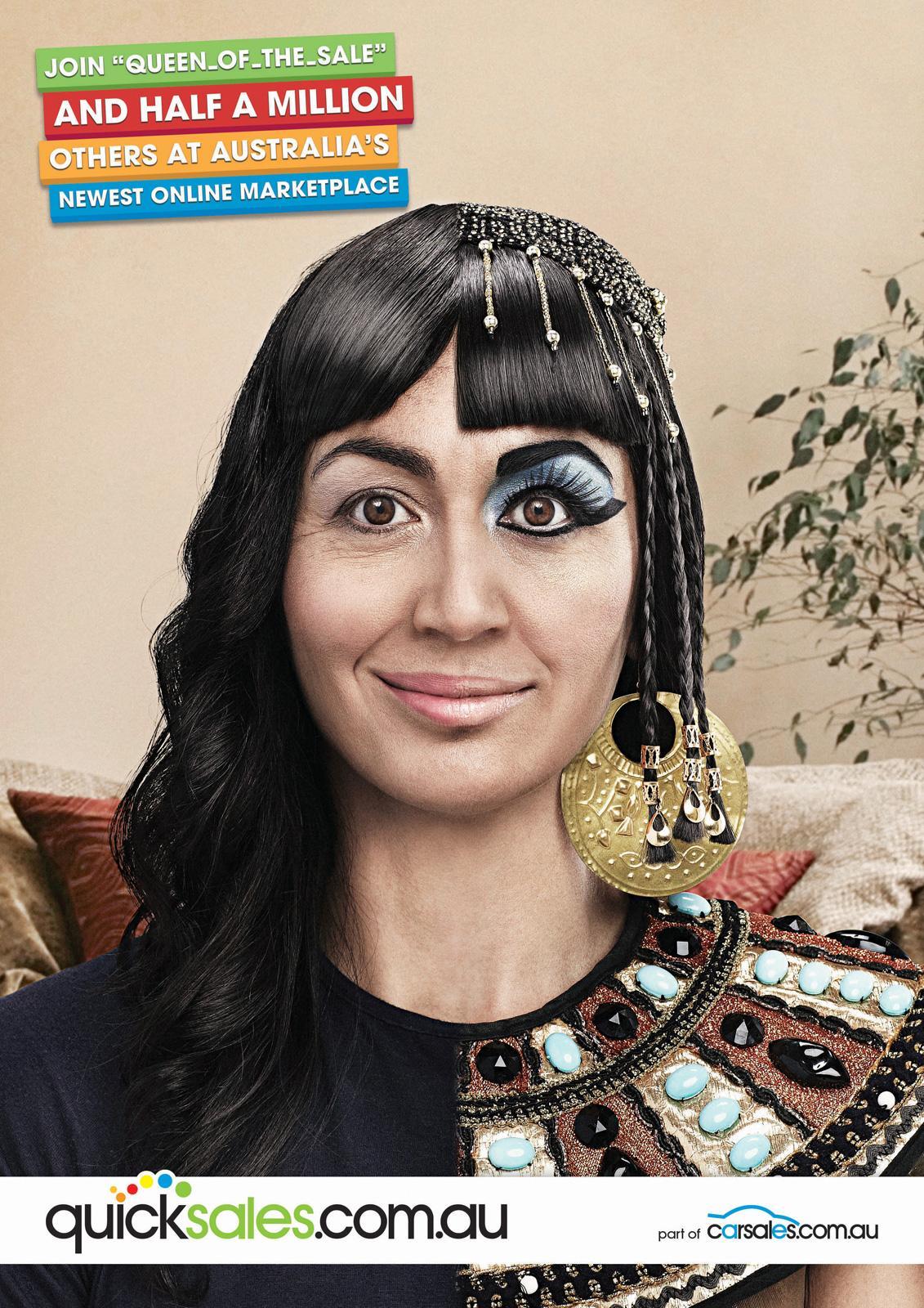 Quicksales.com.au Print Ad -  Alter Egos, Cleopatra