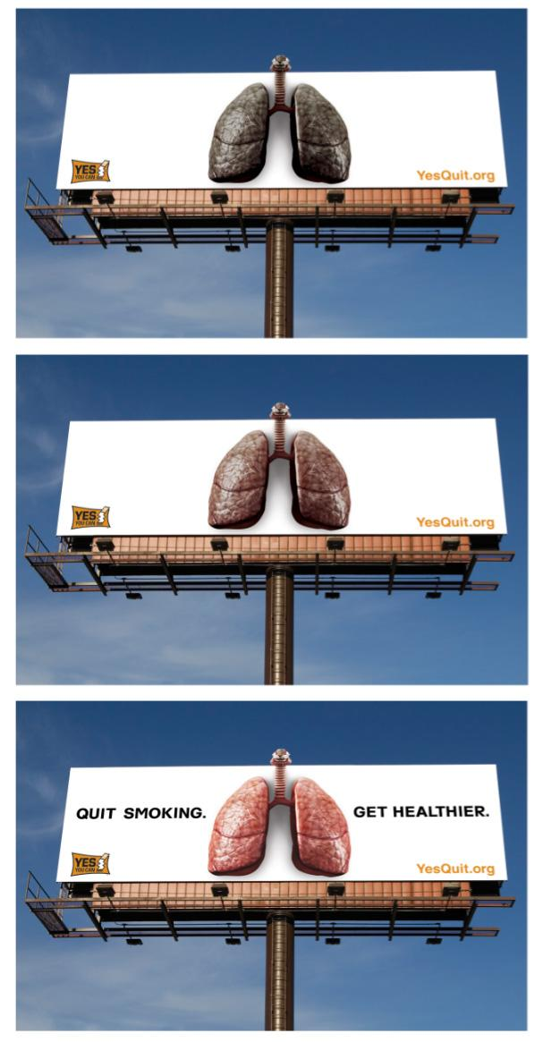 Office of Tobacco Prevention and Control Outdoor Ad -  Quit Smoking. Get Healthier.