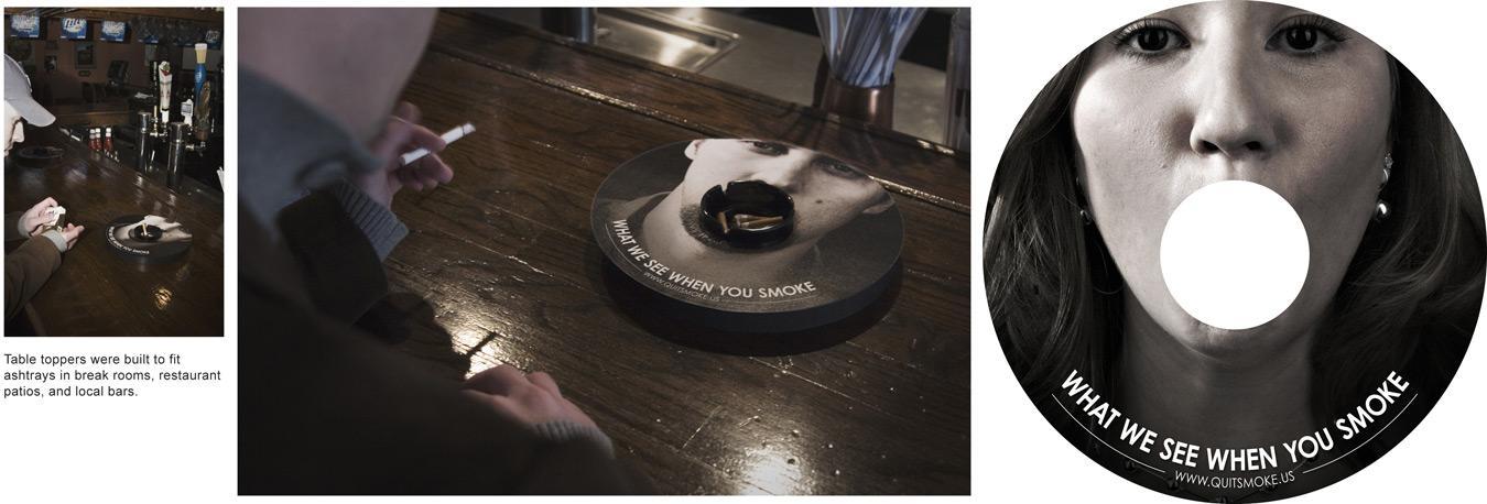 Ashtray in restaurants