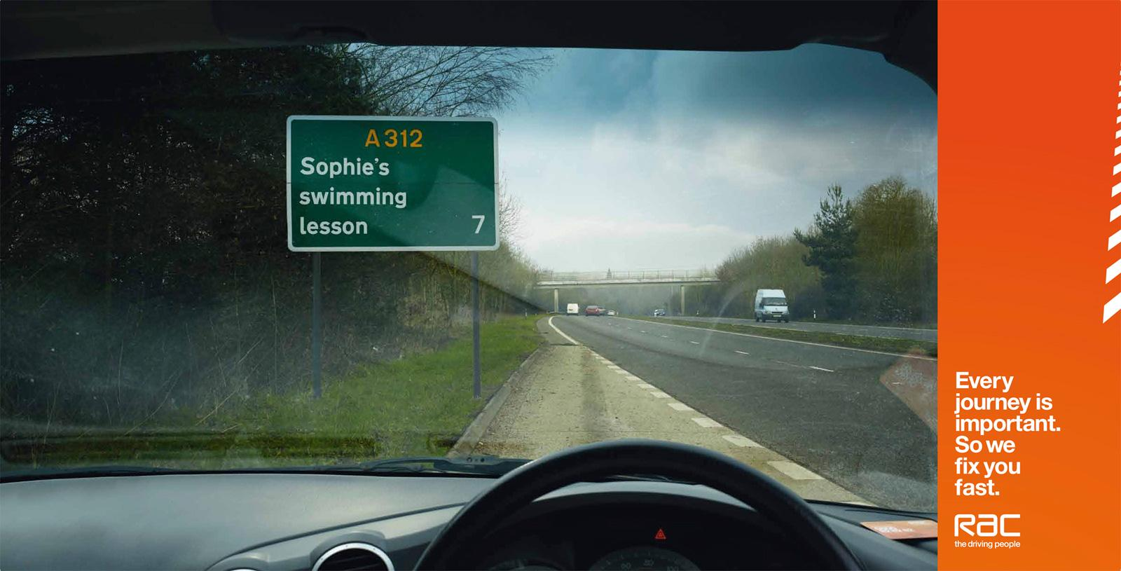 RAC Print Ad -  Swimming