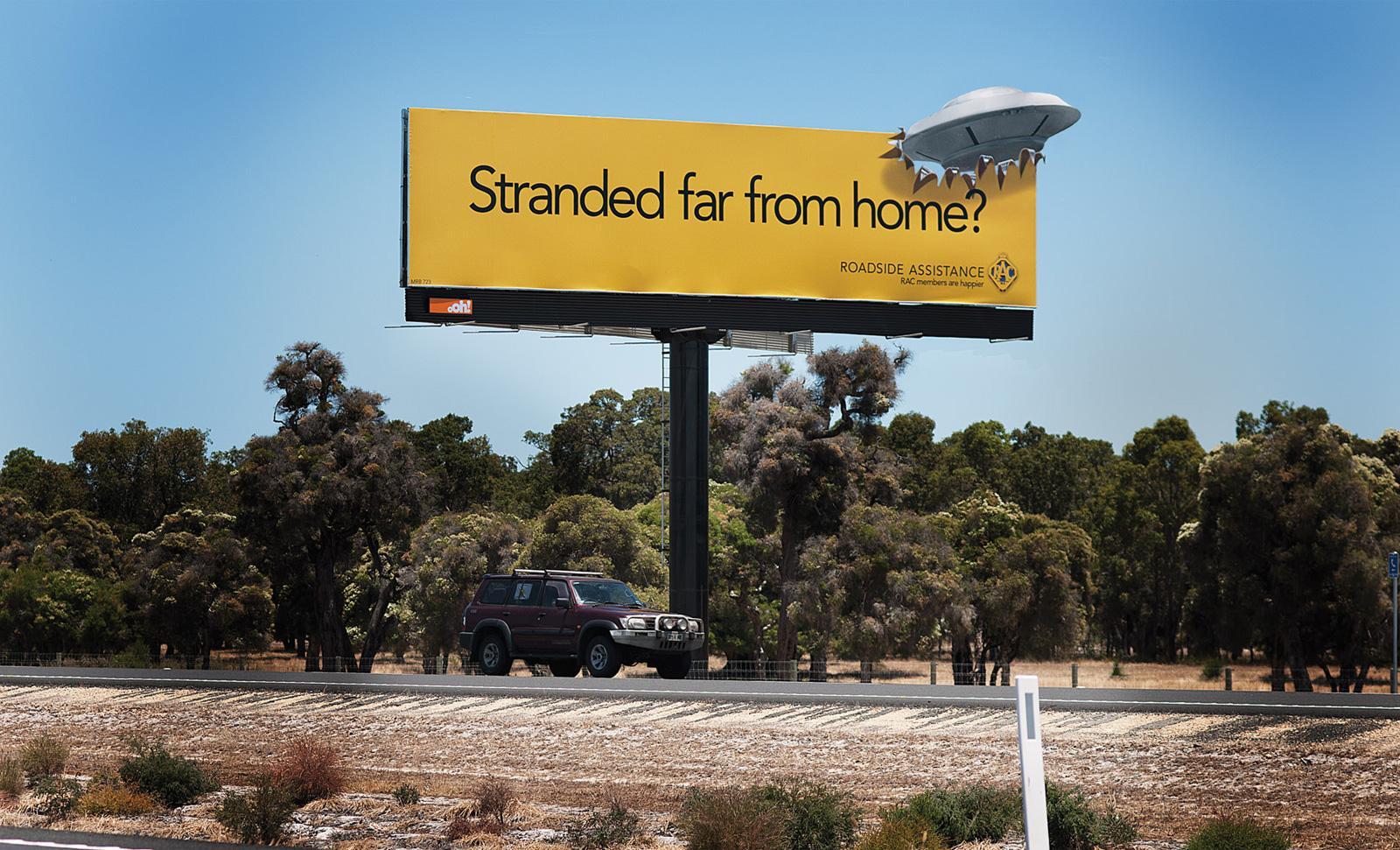 RAC Outdoor Ad -  UFO