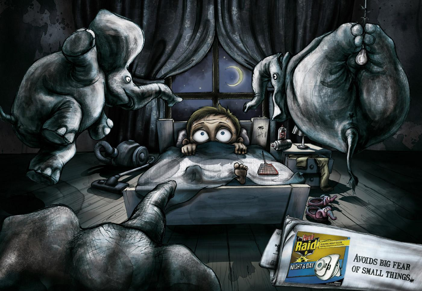 Raid Print Ad -  Sleepless