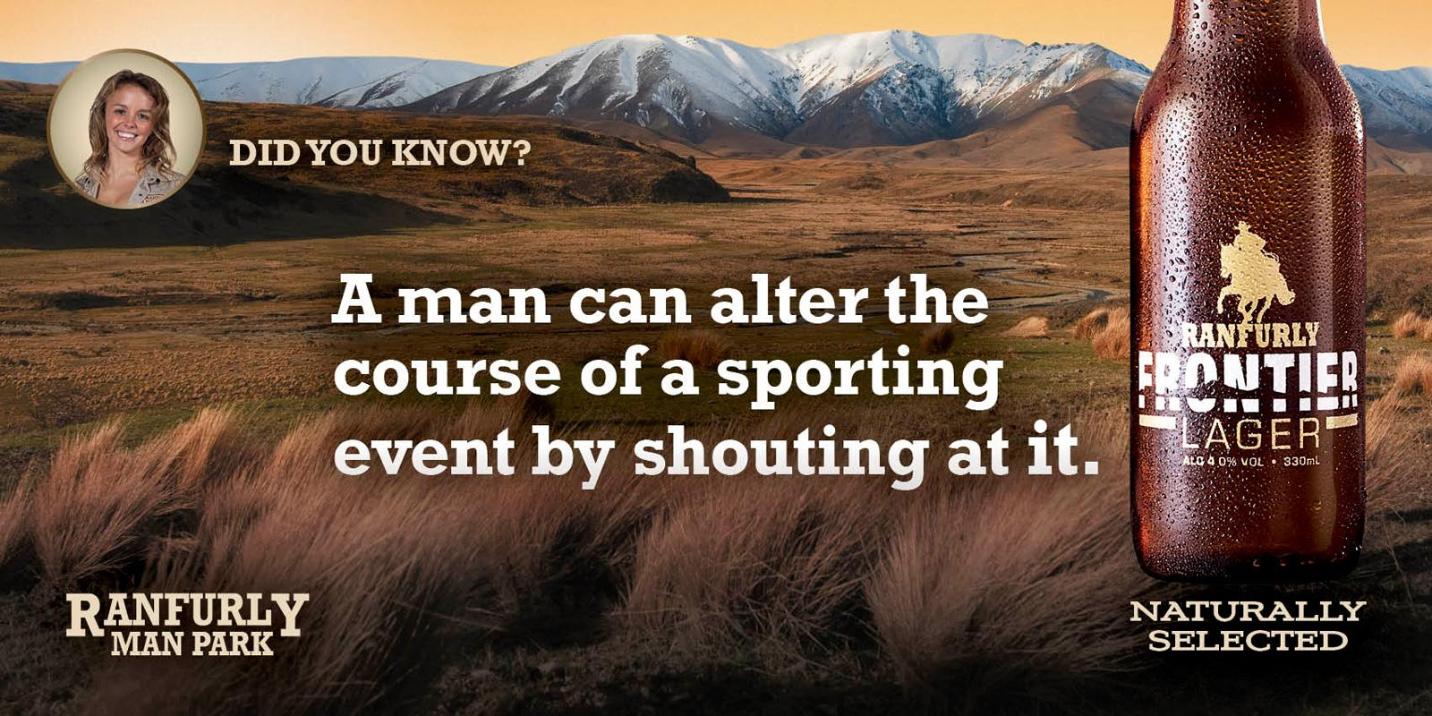 Ranfurly Frontier Outdoor Ad -  Sports