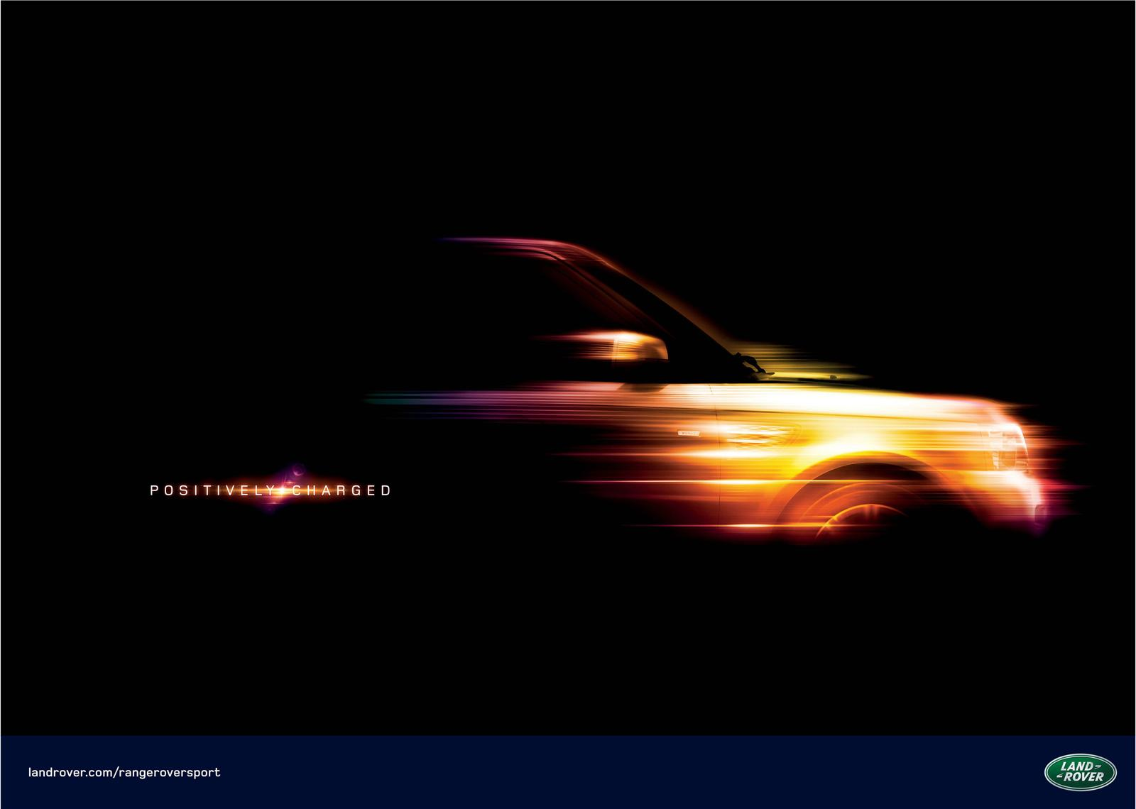 Range Rover Print Ad -  Positively Charged, 1