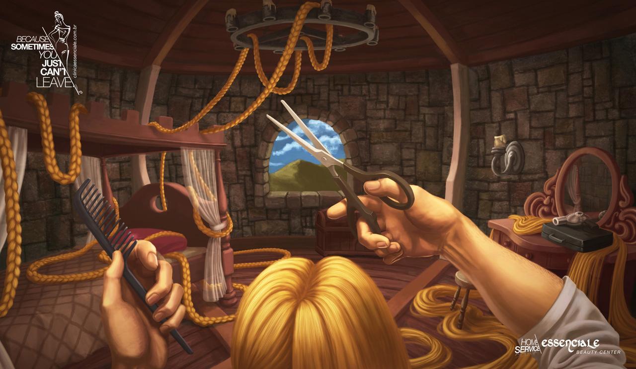 Essenciale Beauty Center Print Ad -  Rapunzel