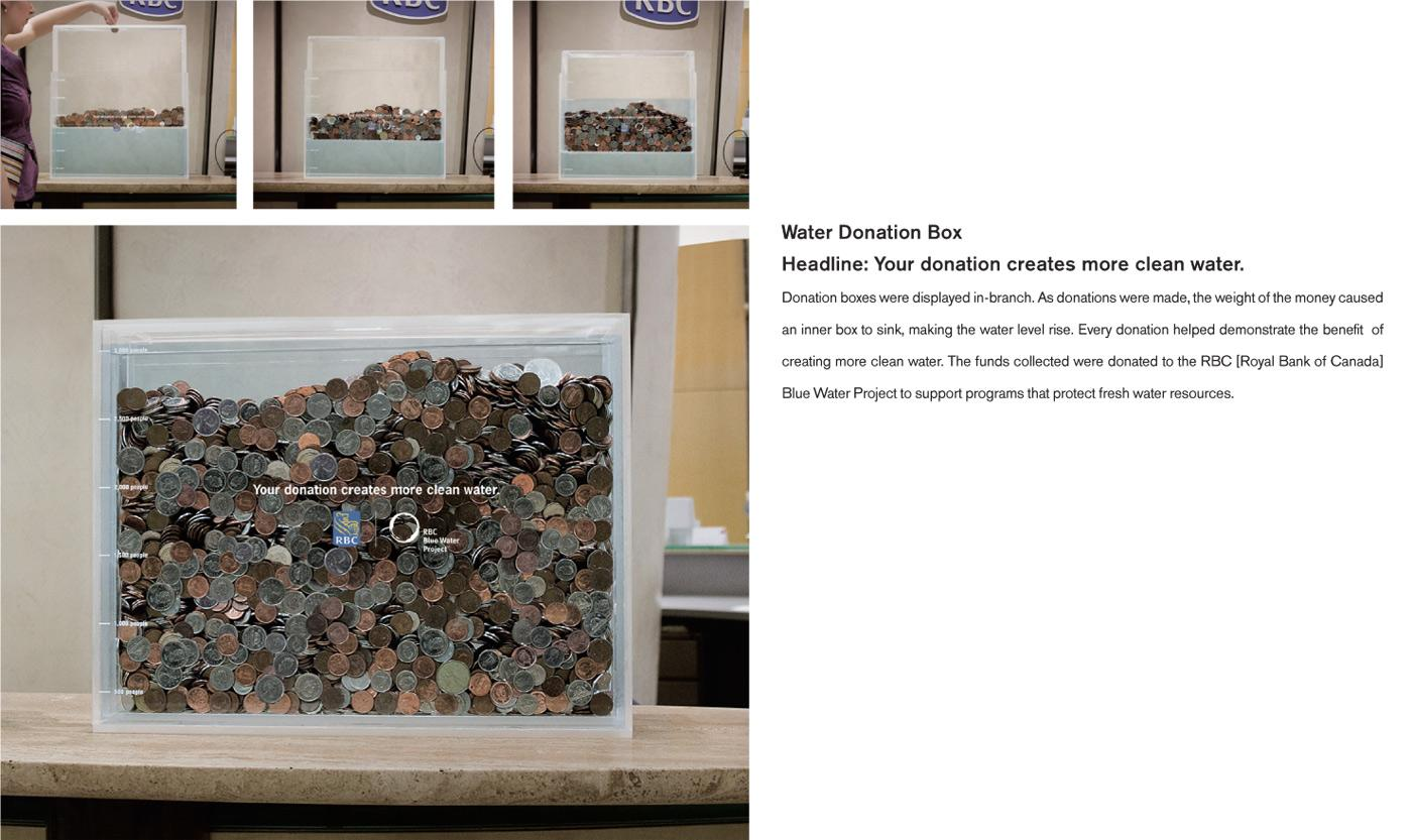 Royal Bank of Canada Ambient Ad -  Water Donation Box