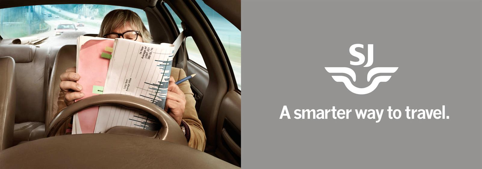 SJ Outdoor Ad -  A Smarter Way to Travel, Reading