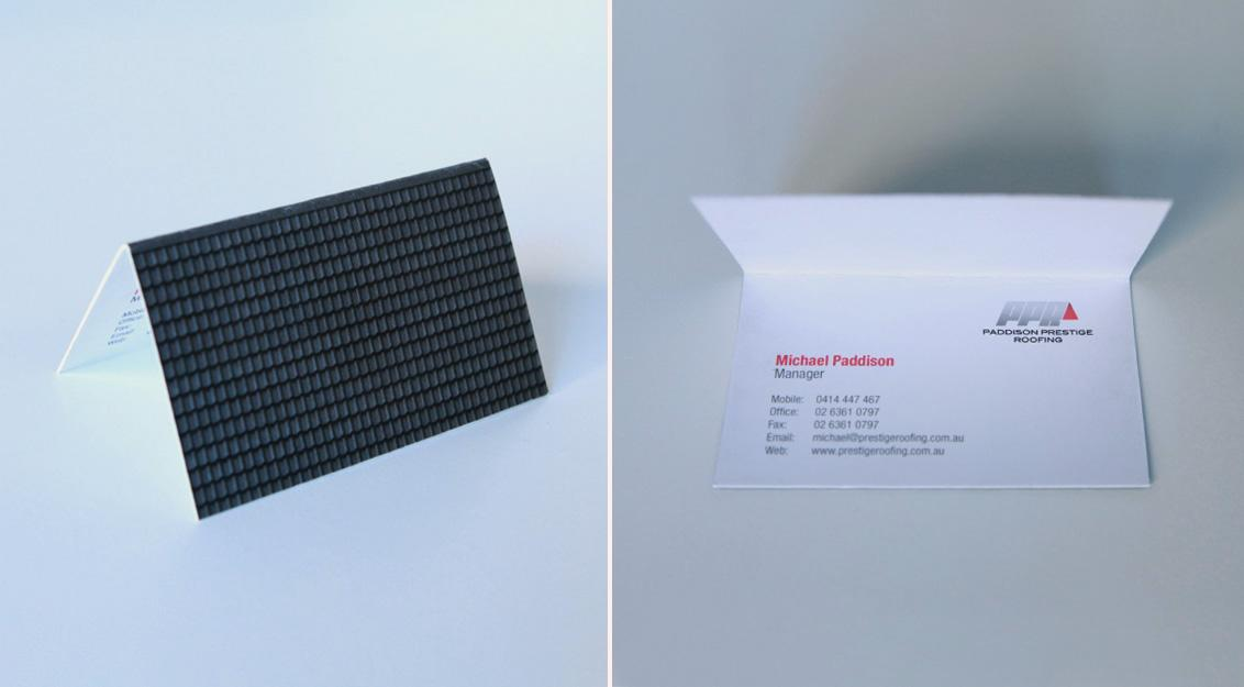 Paddison Prestige Roofing Direct Ad -  Roof Business Card