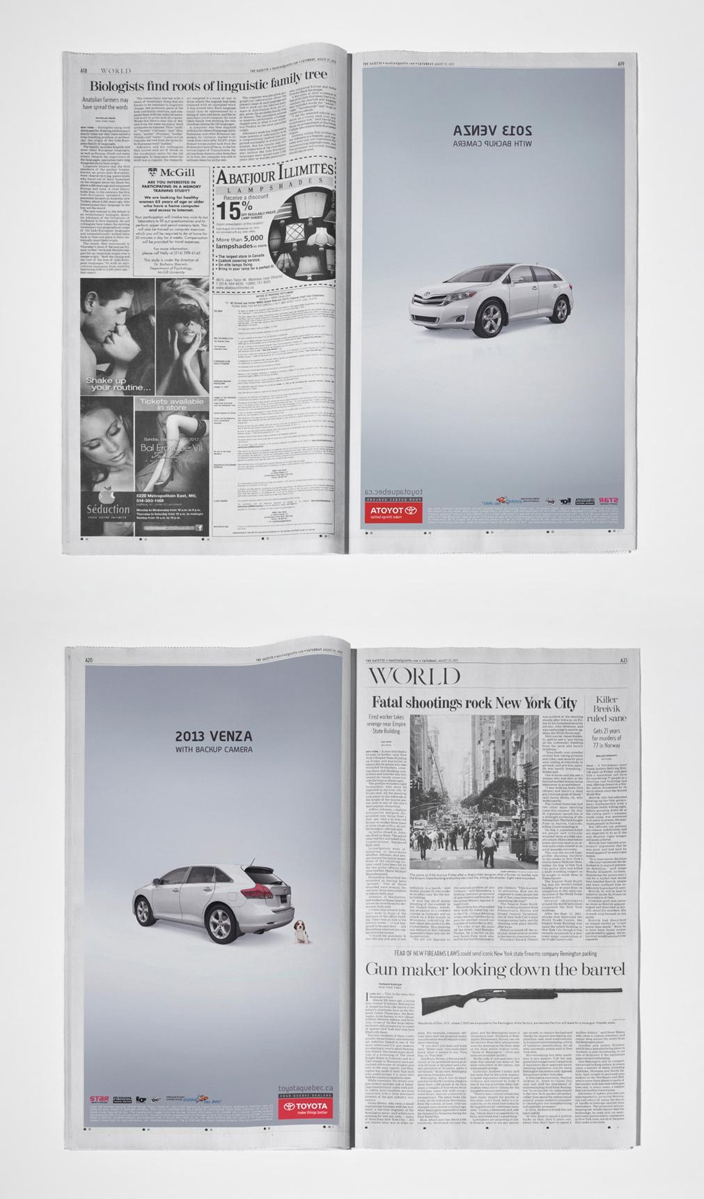 Toyota Print Ad -  Recto-Verso
