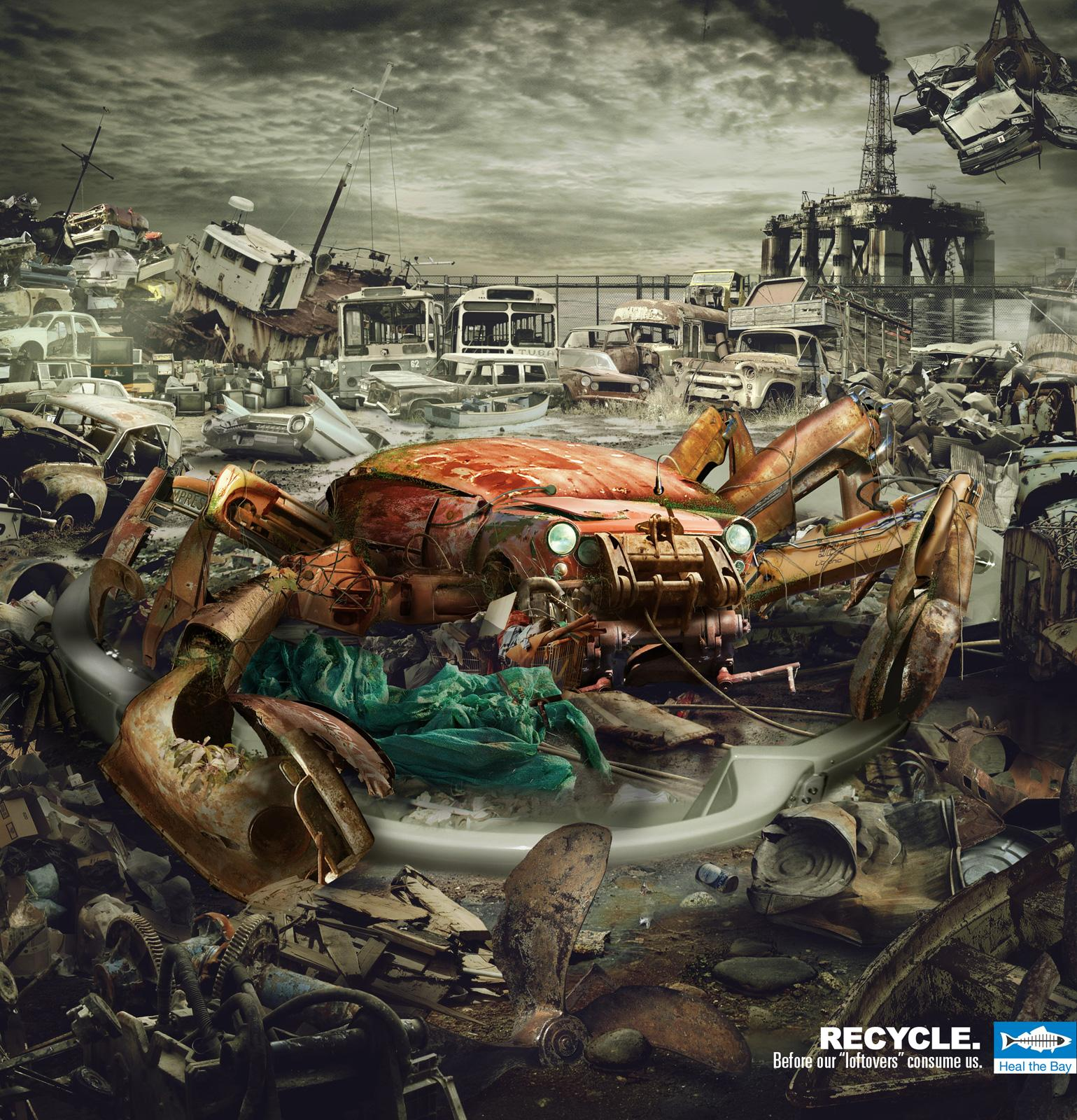 Heal the Bay Print Ad -  Recycle