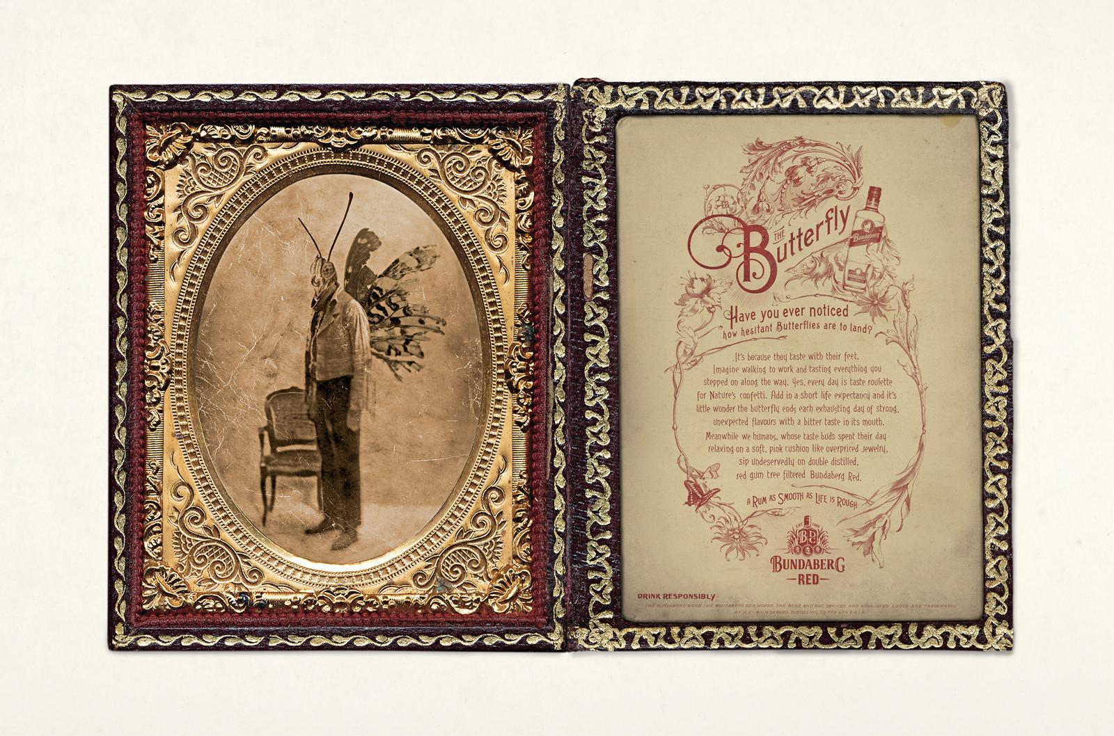 Bundaberg Print Ad -  Red Bundy Butterfly Award