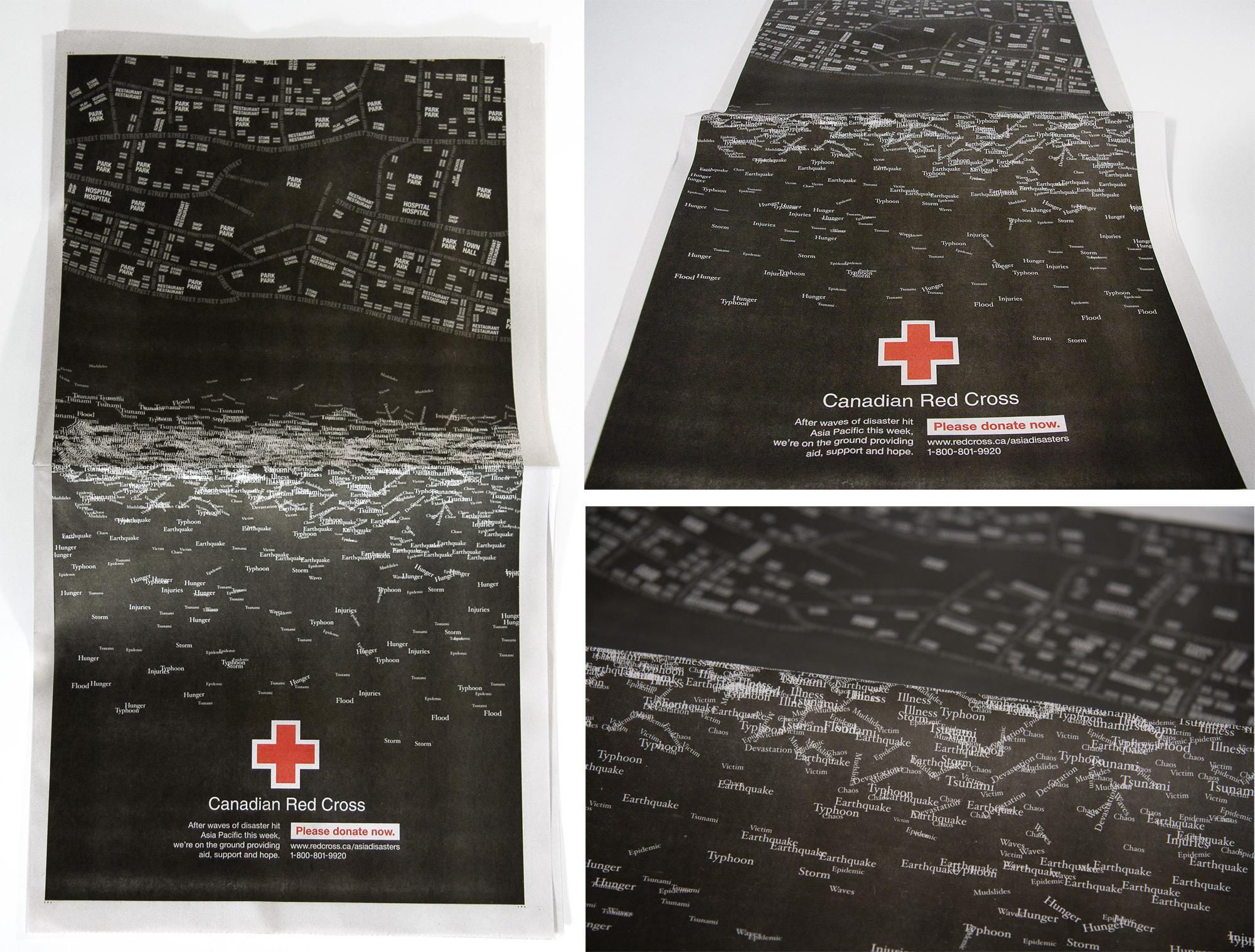 Red Cross Print Ad -  Tsunami