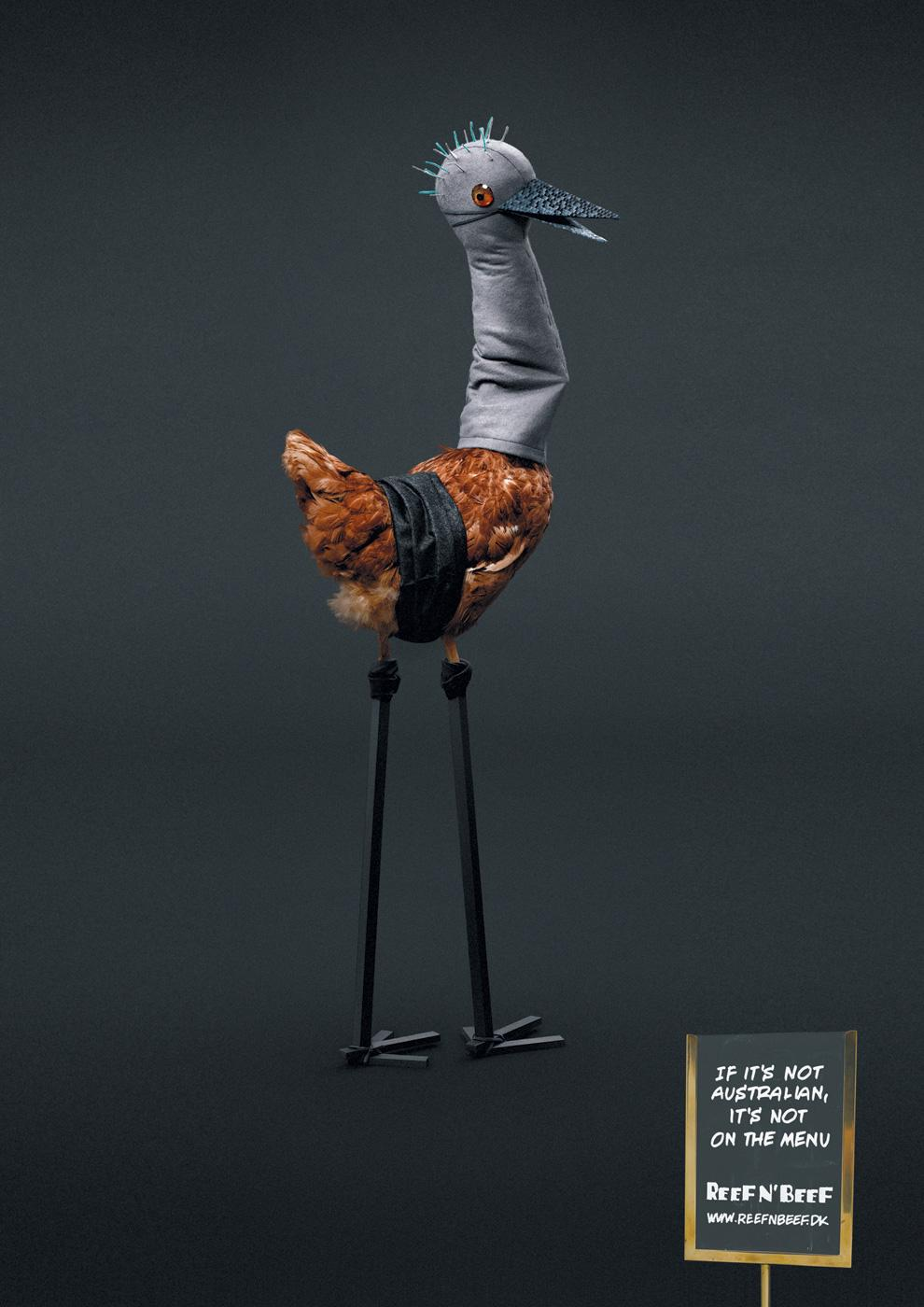 Reef n' Beef Print Ad -  Chicken