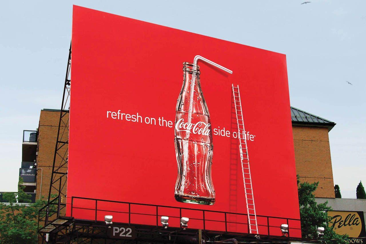 Coca-Cola Outdoor Ad -  Straw, Ladder