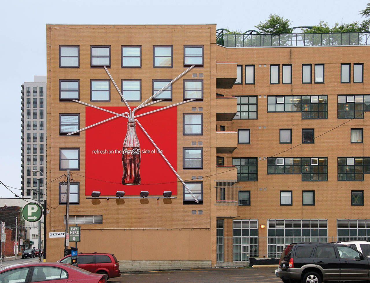 Coca-Cola Outdoor Ad -  Straw, Windows