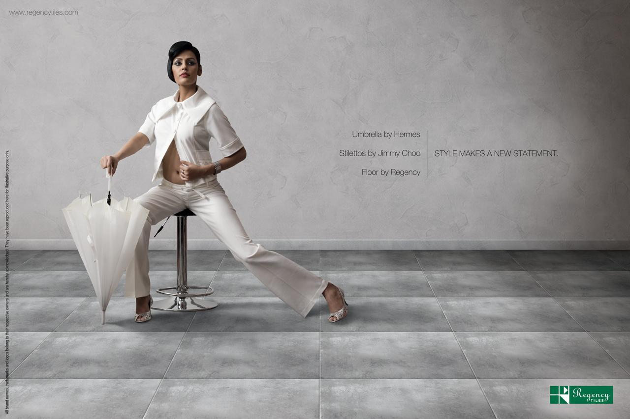 Regency Tiles Print Ad -  Style Make a New Statement, Umbrella