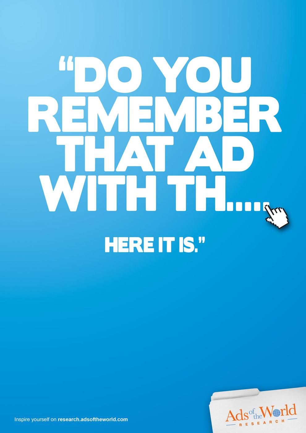 Ads of the World Print Ad -  Remember