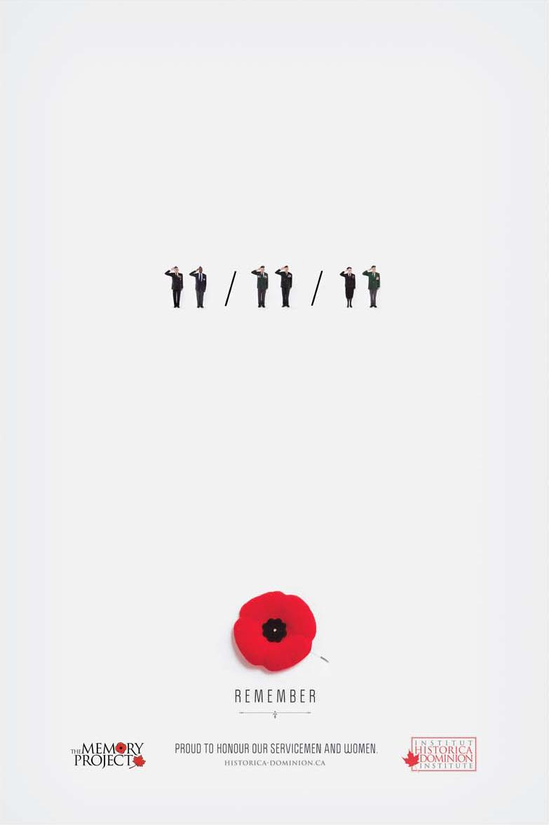 Remembrance Day Print Ad -  Remember 11/11/11