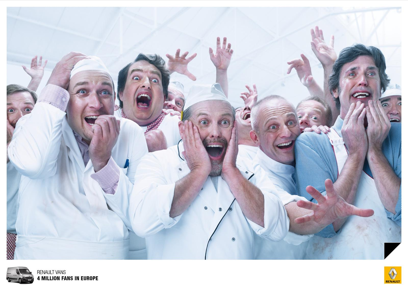 Renault Print Ad -  The fans, 1