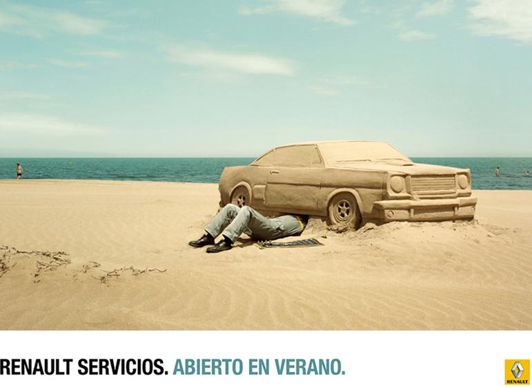 Renault Print Ad -  Beach