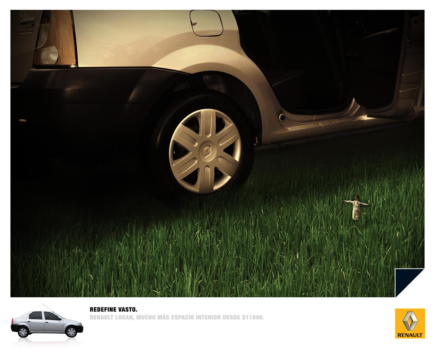 Renault Print Ad -  Scarecrow