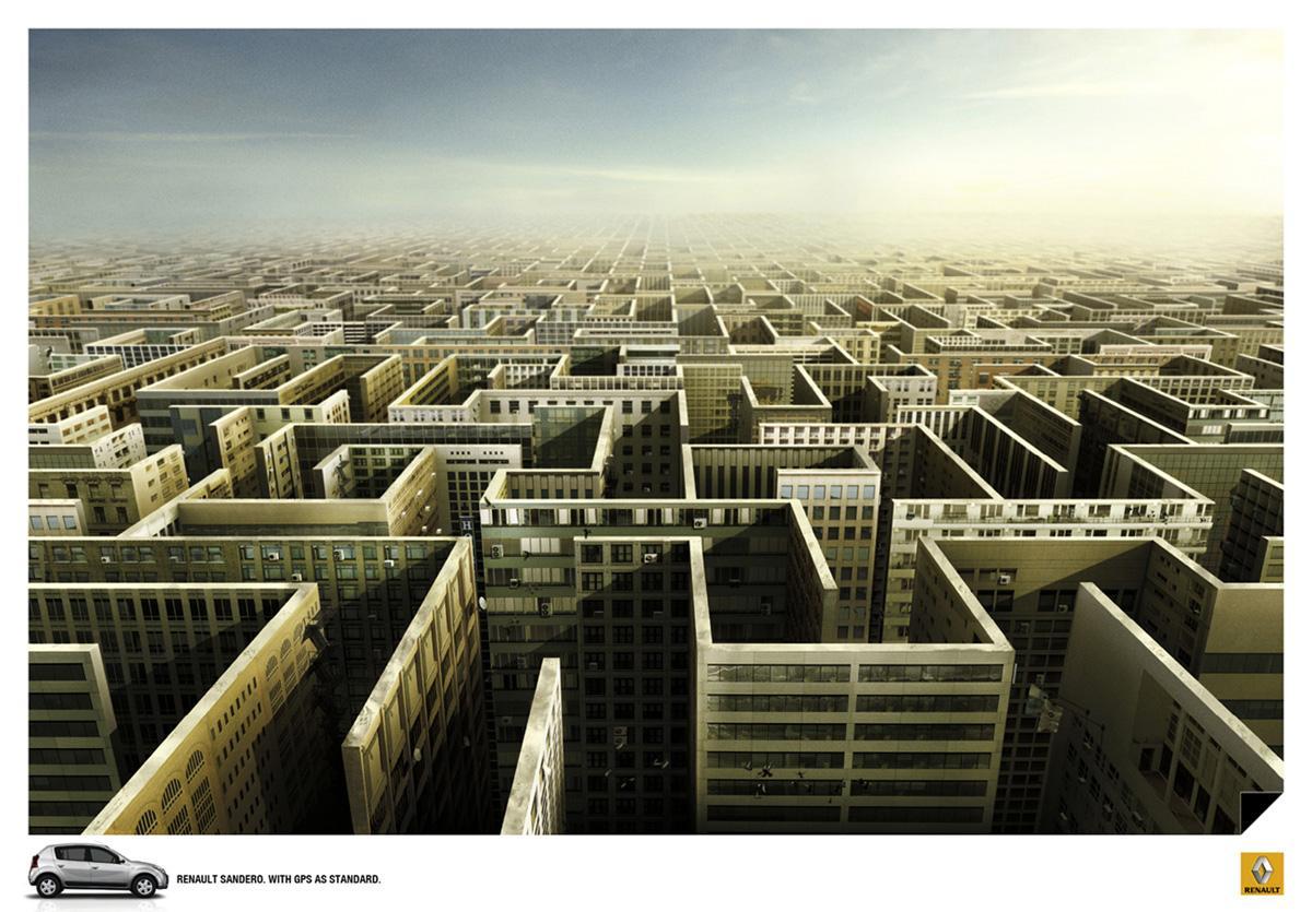 Renault Print Ad -  Maze