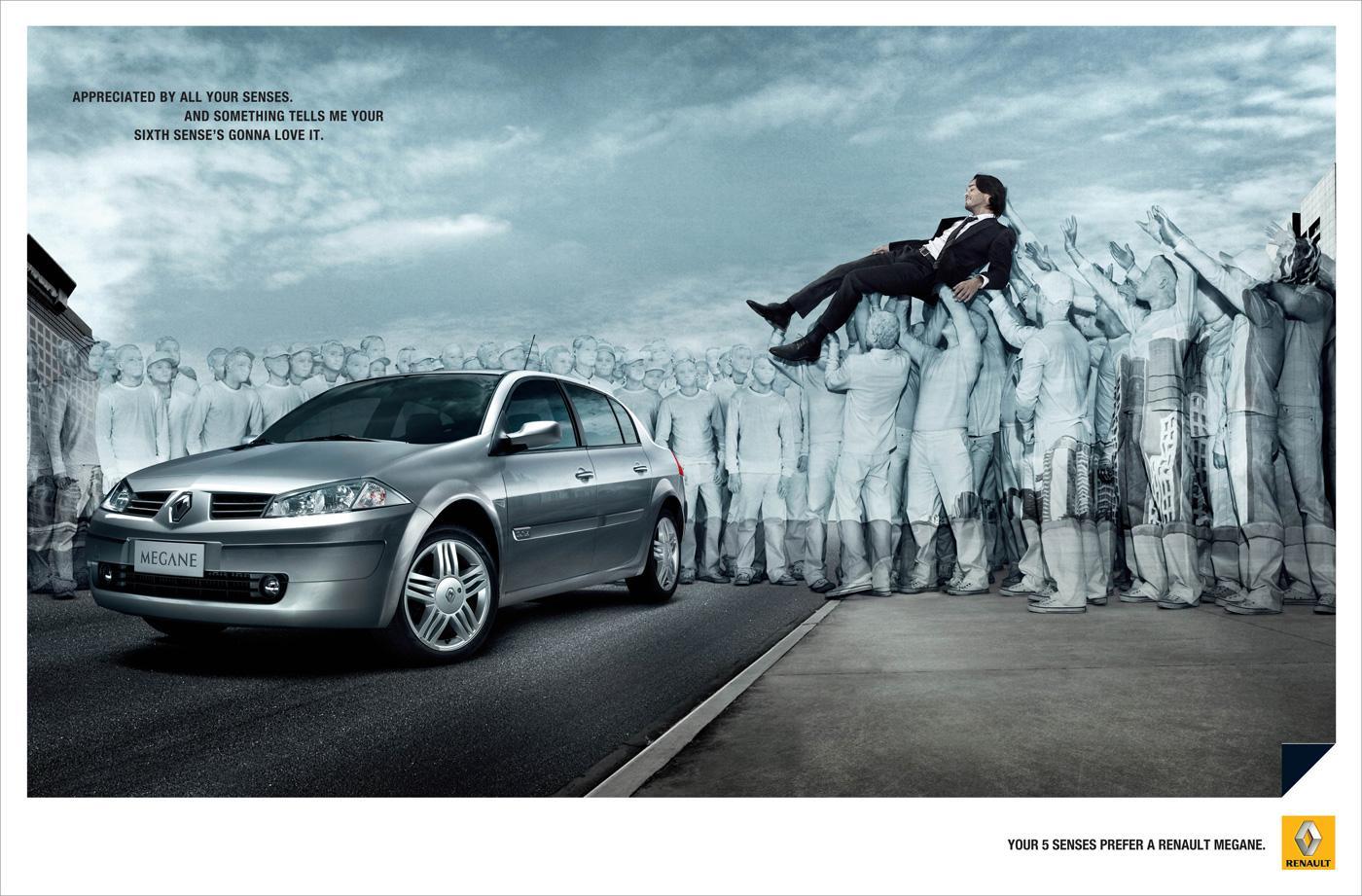 Renault Print Ad -  Senses, 2