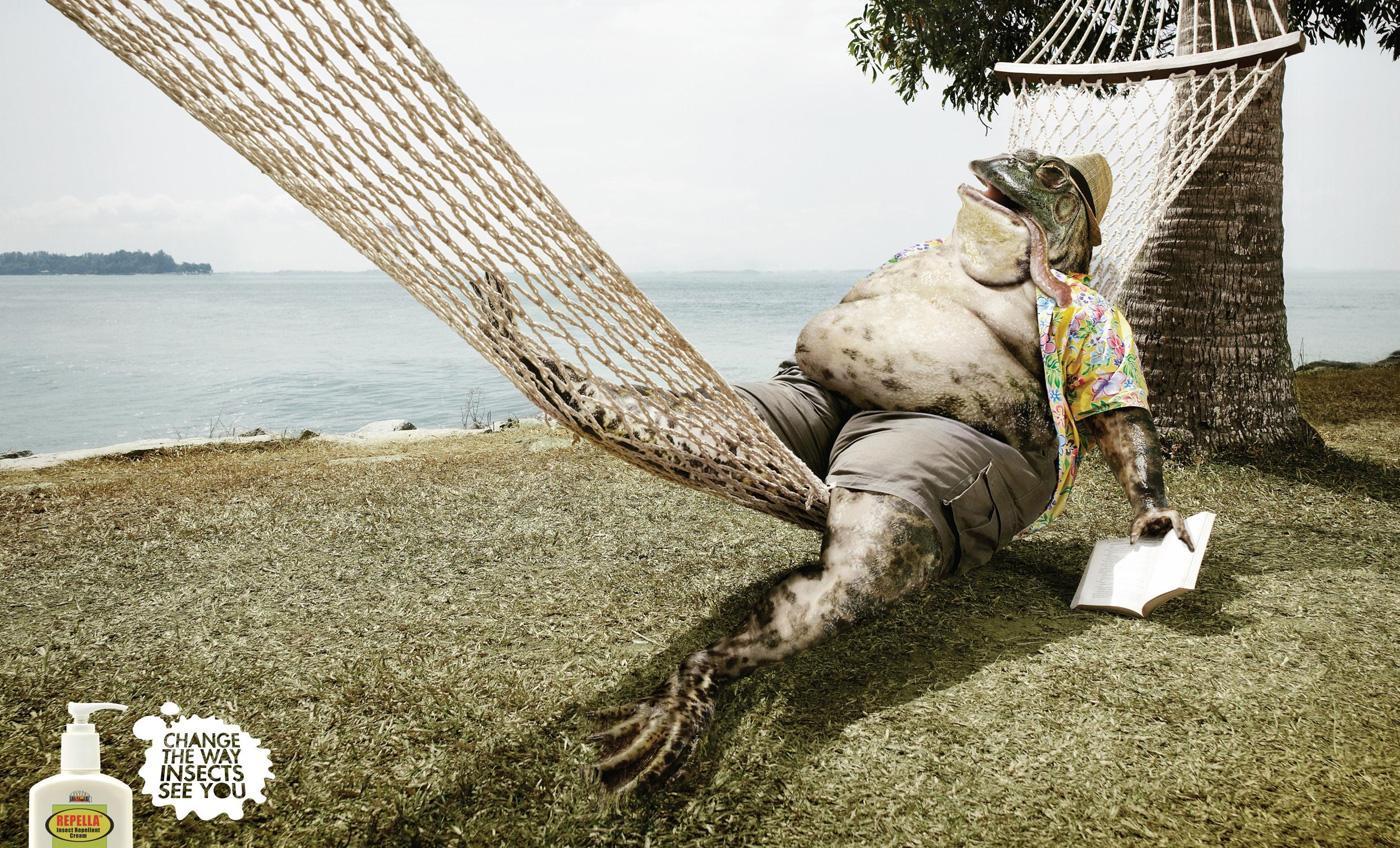 Repella Print Ad -  Frog