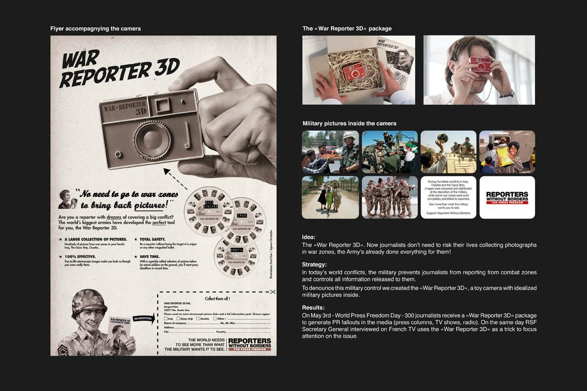 Reporters Without Borders Direct Ad -  War Reporter 3D