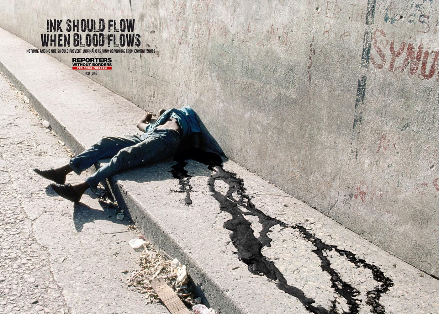 Reporters Without Borders Print Ad -  Ink
