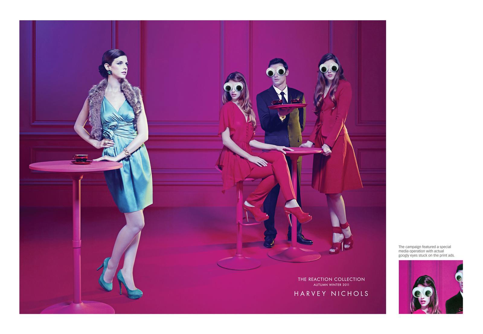 Harvey Nichols Print Ad -  Restaurant Googly Eyes