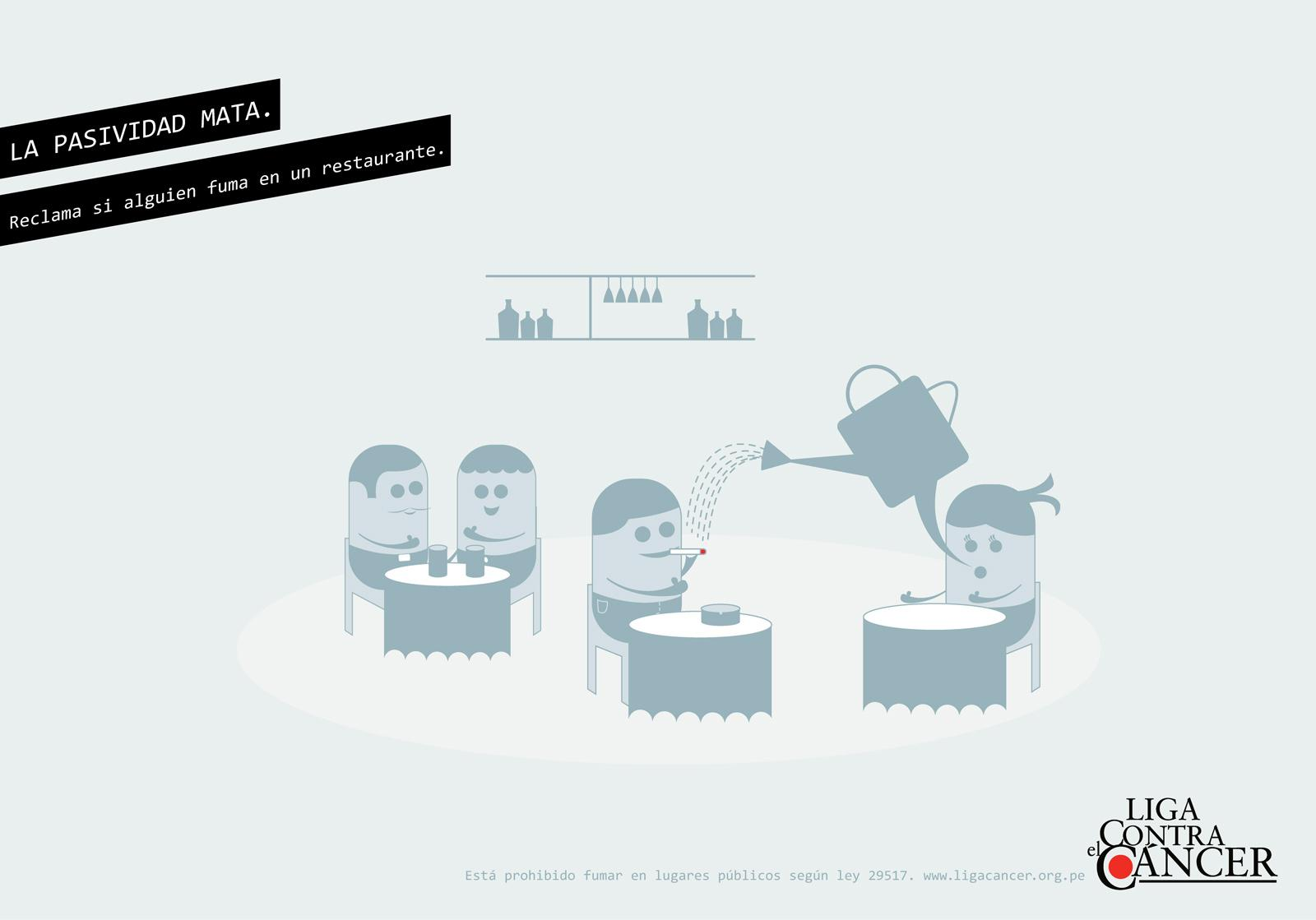Liga Contra el Cancer Print Ad -  Restaurant