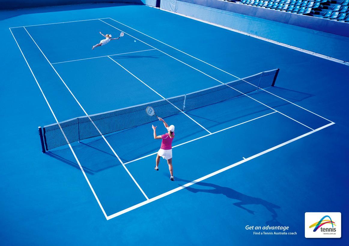 Tennis Australia Print Ad -  Coach awareness