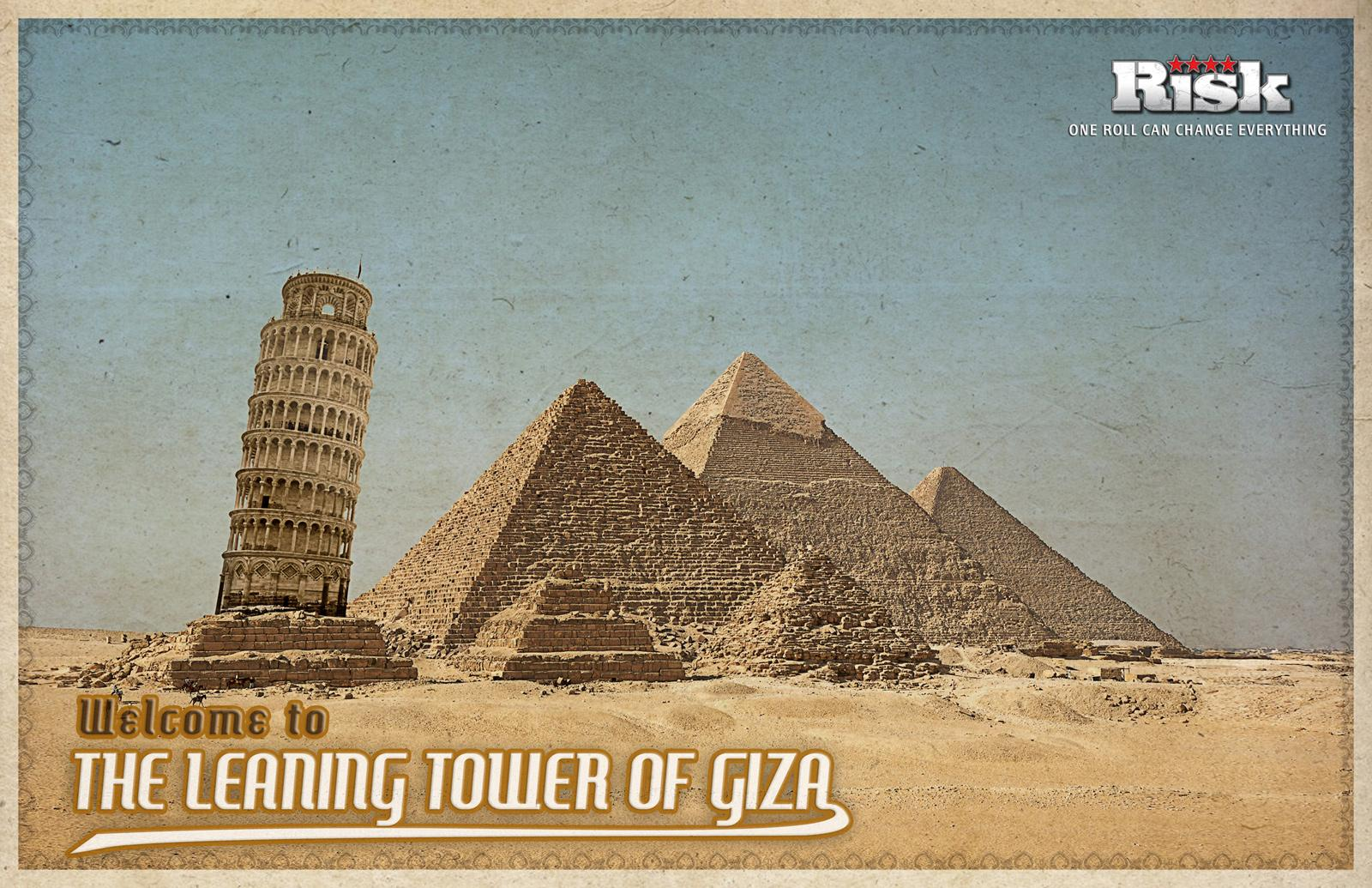 Risk Print Ad -  The leaning tower of Giza