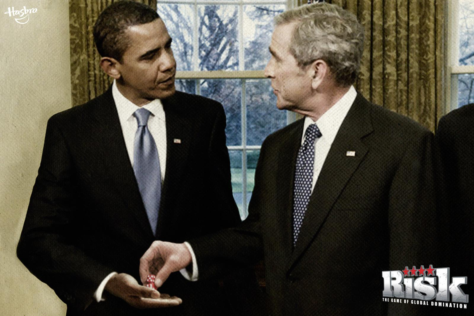 Hasbro Print Ad -  Obama + Bush