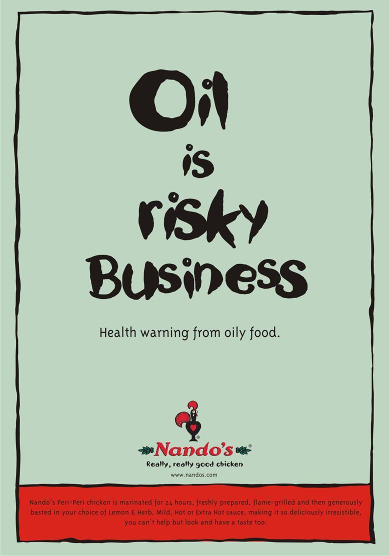 Nando's Print Ad -  Risky Business
