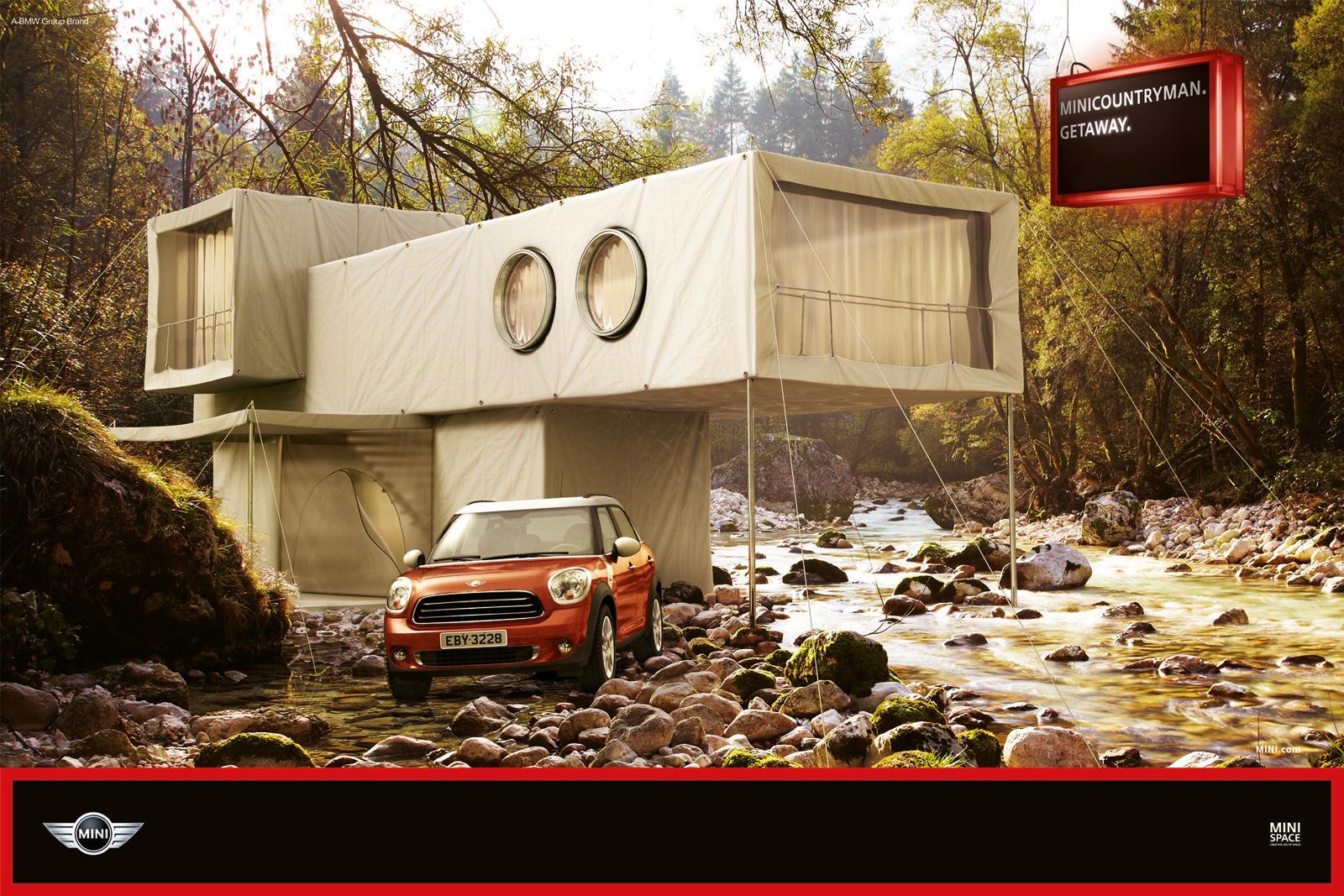 Mini Print Ad -  Hut River