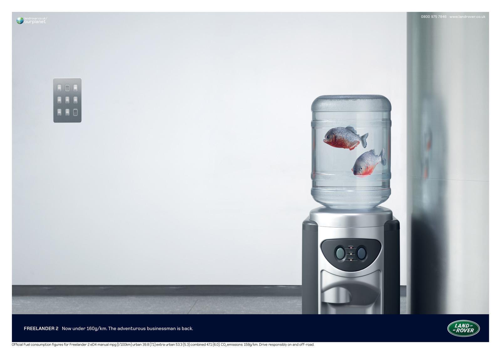 Land Rover Print Ad -  Piranha