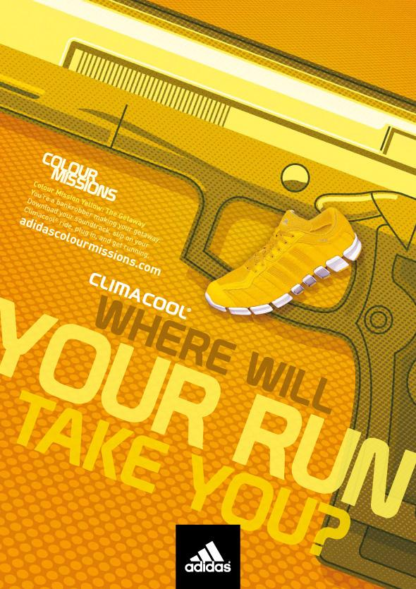 Adidas Print Ad -  Colour Missions, Robbery yellow