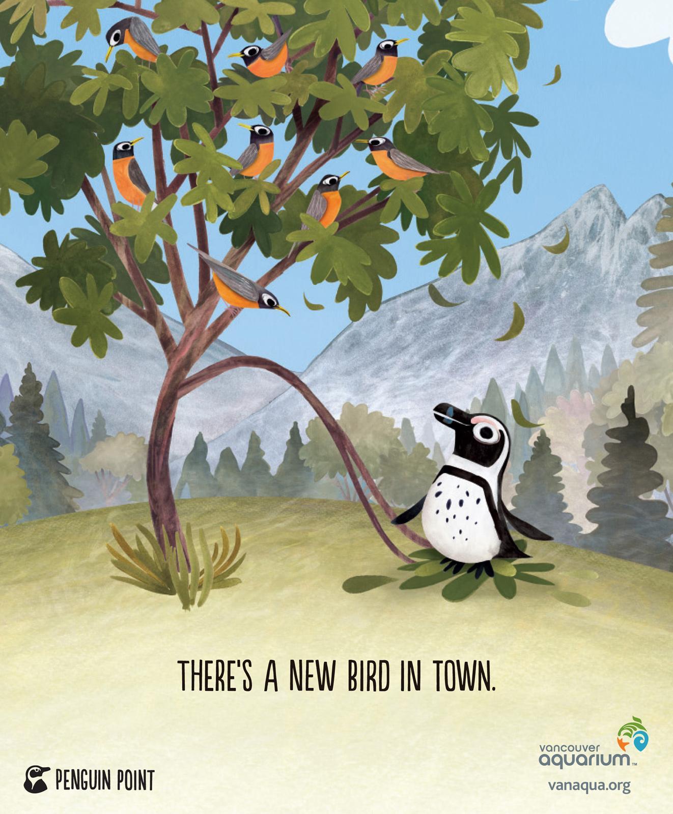Vancouver Aquarium Print Ad -  Robins