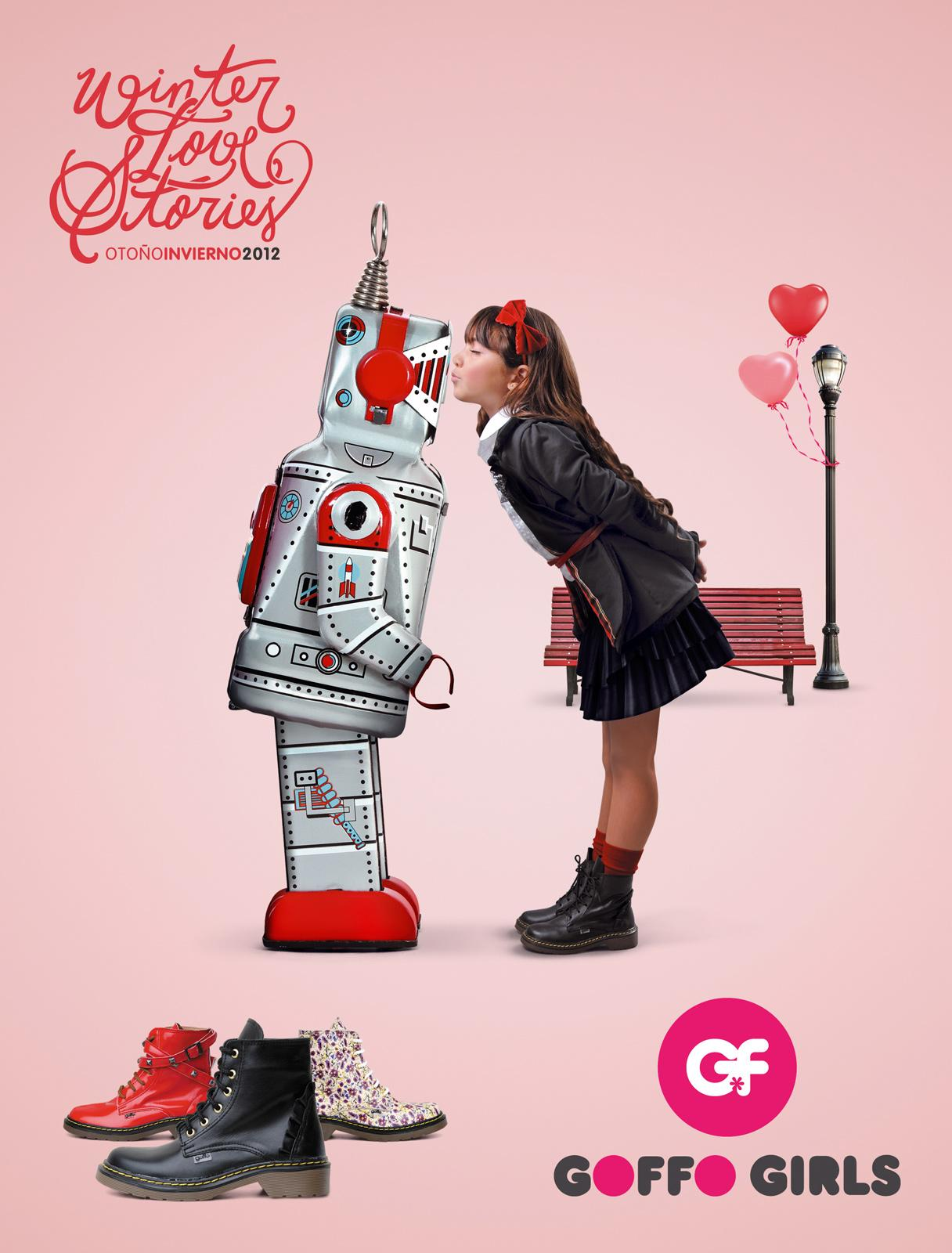Goffo Girls Print Ad -  Robot
