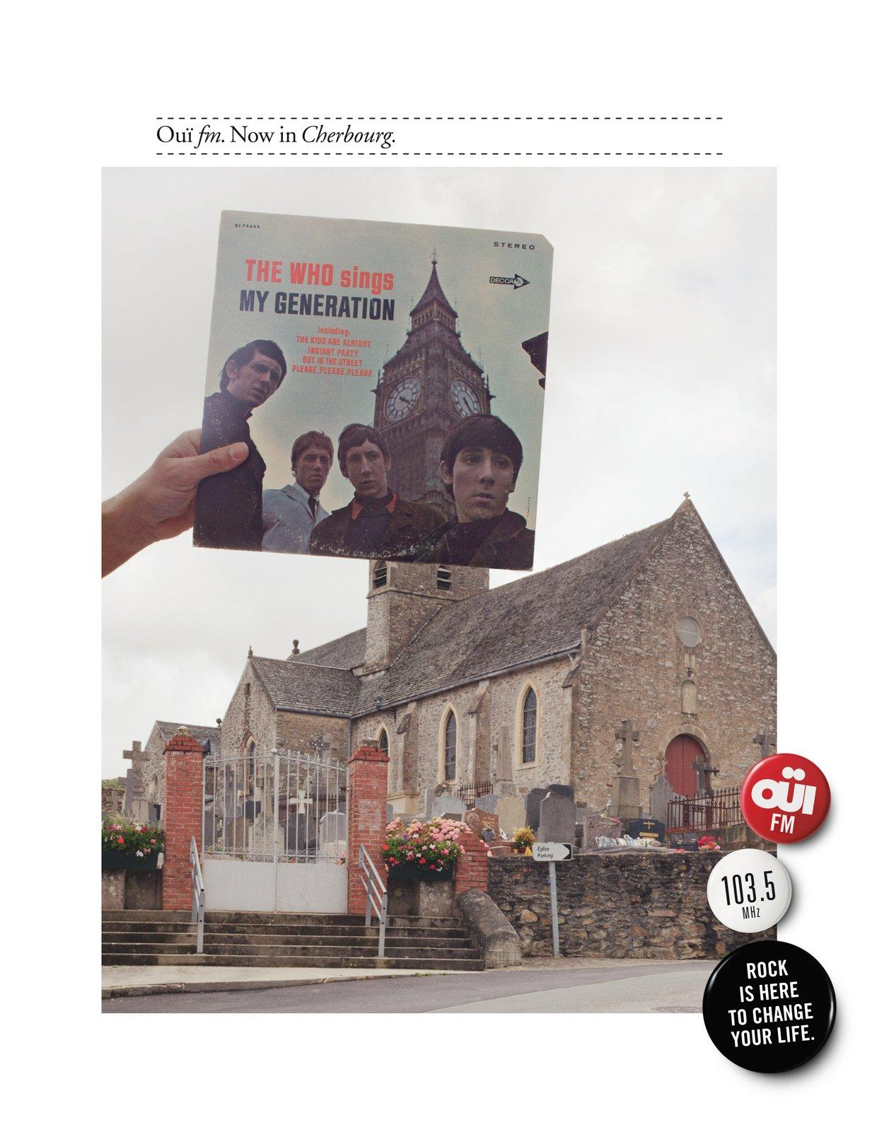 Oui FM Print Ad -  Cherbourg