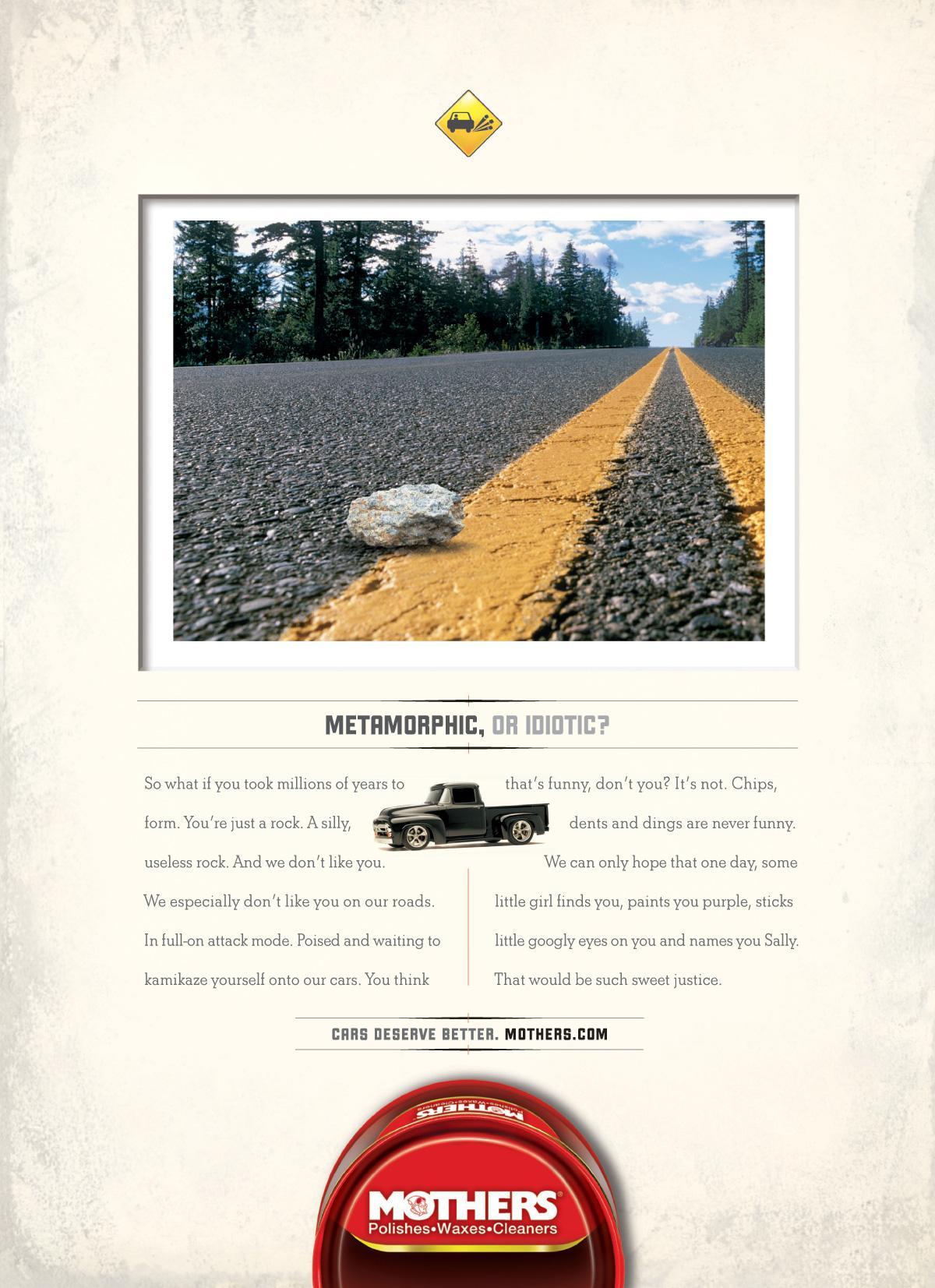 Mothers Car Polish Print Ad -  Rock