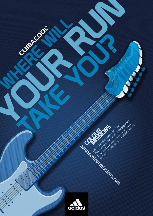 Adidas Print Ad -  Colour Missions, Rockstar blue