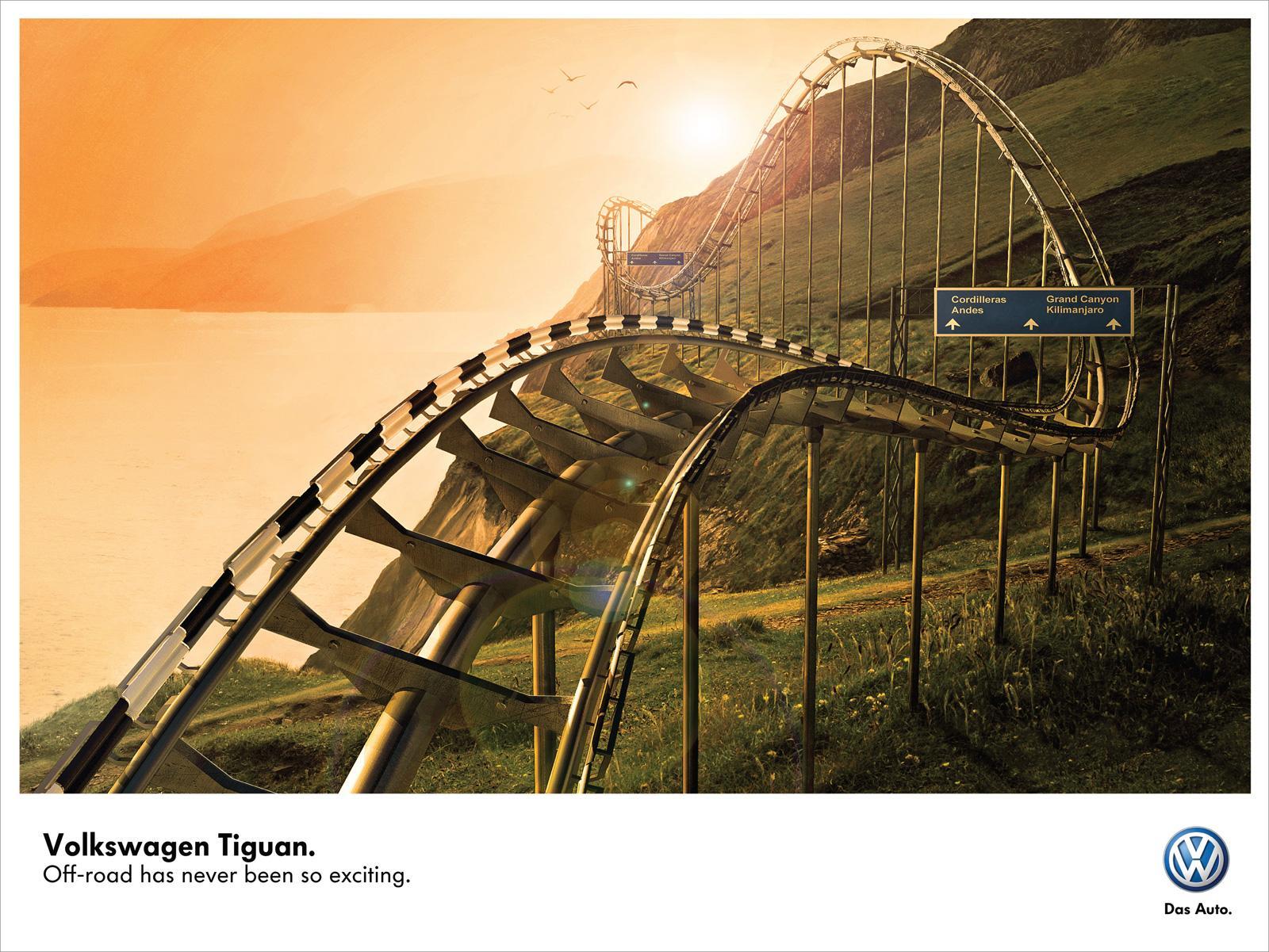 Volkswagen Print Ad -  Roller Coaster