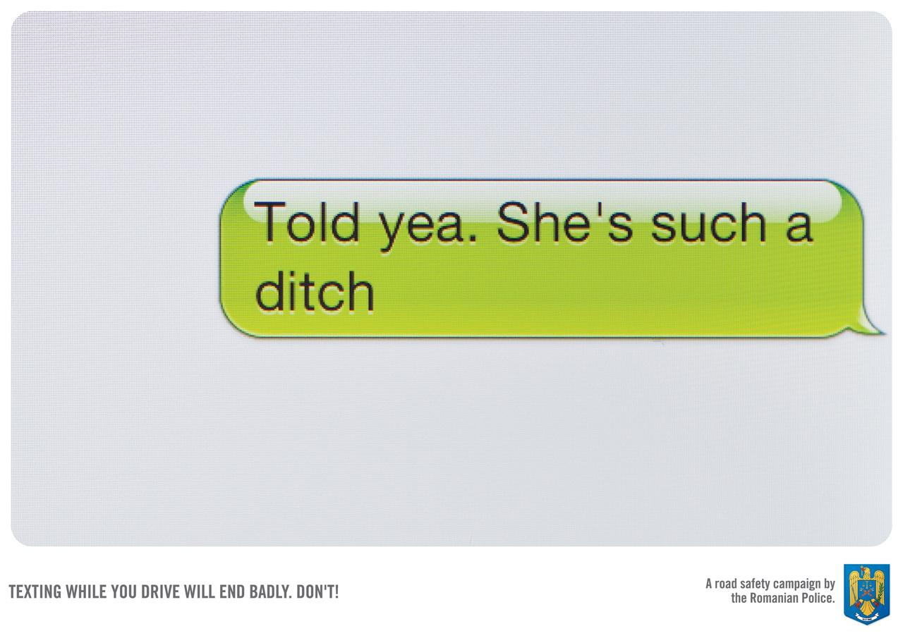 Romanian Police Print Ad -  Ditch