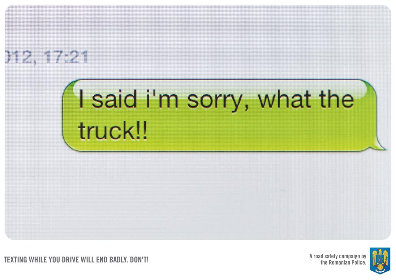 Romanian Police Print Ad -  Truck