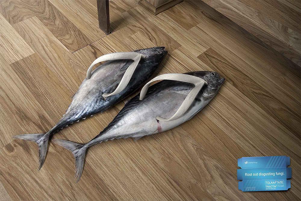 Tolnaftate Print Ad -  Fish