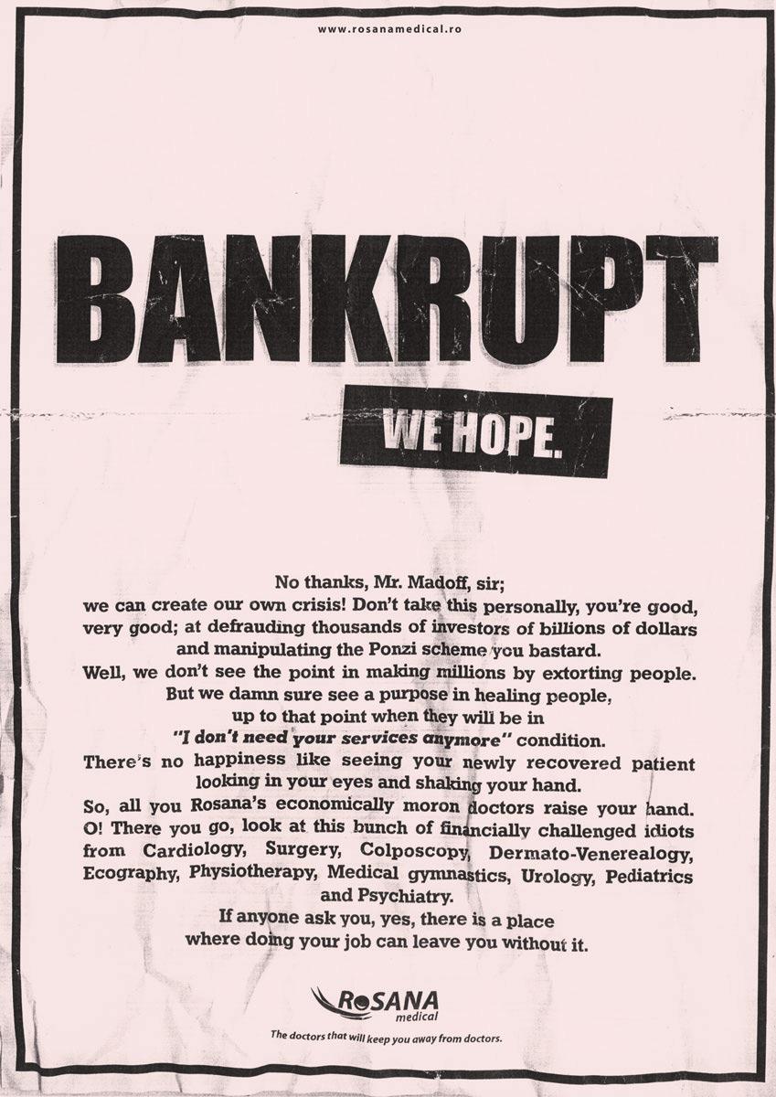 RoSana Print Ad -  Bankrupt